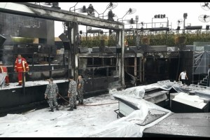 Fire at Beirut's SkyBar