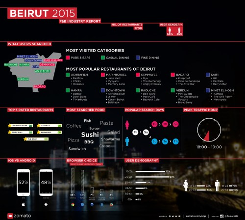 Beirut 2015 F&B Industry Report Infographics