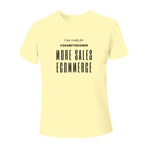 T-Shirt Online mehr Verkaufen mit GrumpyBoomer Marketing - yellow