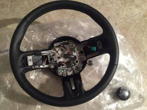 Ford Mustang OEM Leather Steering Wheel with Shift Knob