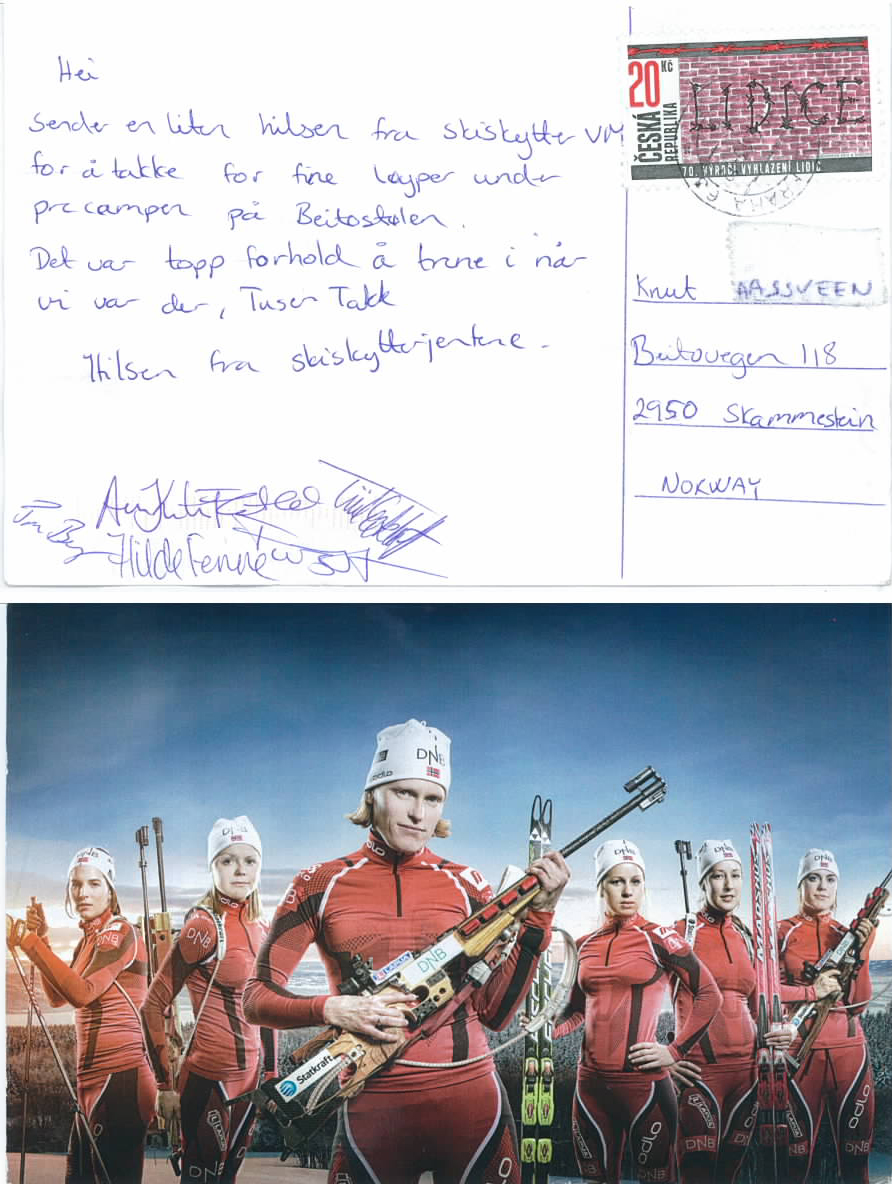 Fornøyde skiskytterjenter på Beitostølen