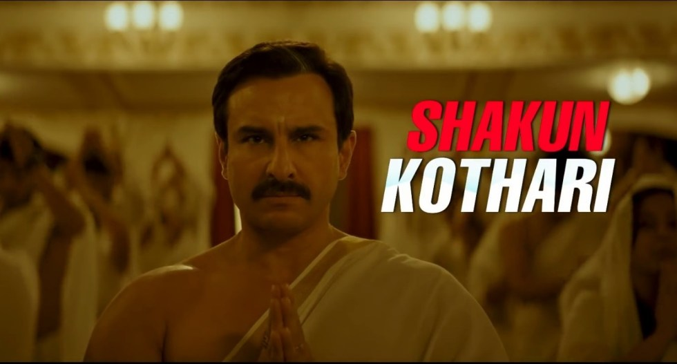 Saif as Shakun Kothani in film Baazaar