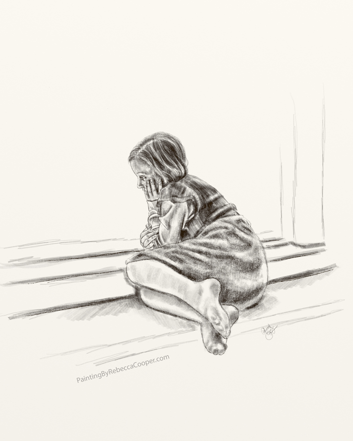Drawing Challenge: Day 21 – The Quiet Girl