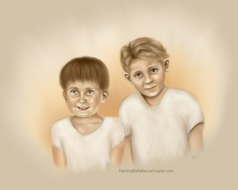 Why I Paint Angels – Unborn Children (Day 147 – Joshua and Stephen)