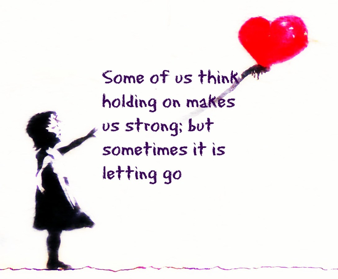 #quote #Hesse Some of us think holding on makes us strong, but sometimes it si leting go