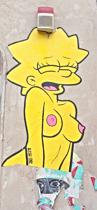#simpsons #sexy #kitsch Lisa Simpson naked art