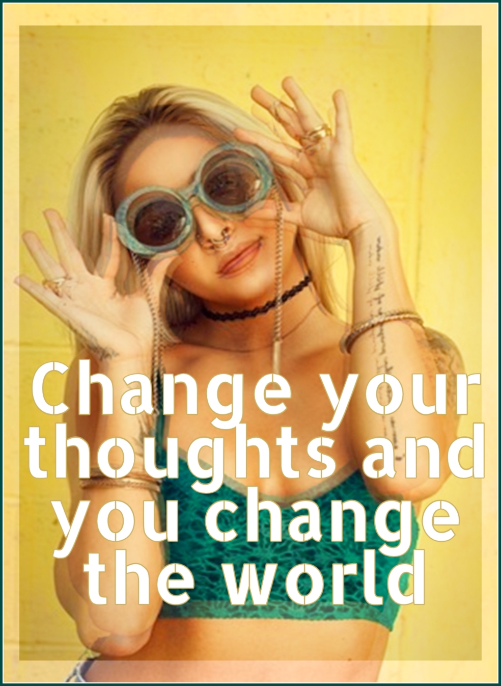 Change your thoughts and you change your world.  Quote be kitschig blog