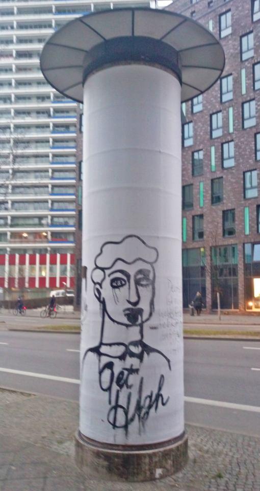 Litfassaeule Berlin No news today be kitschig blog