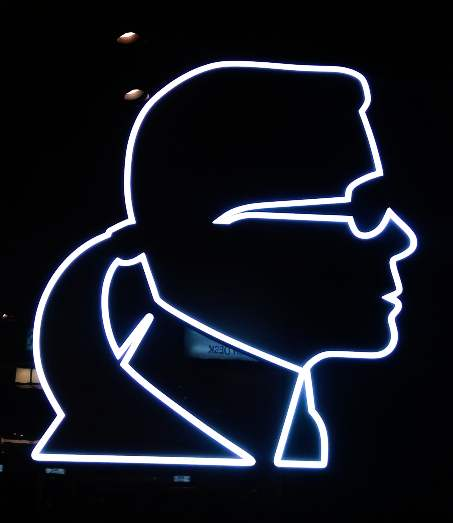 Karl Lagerfeld Neon Sign