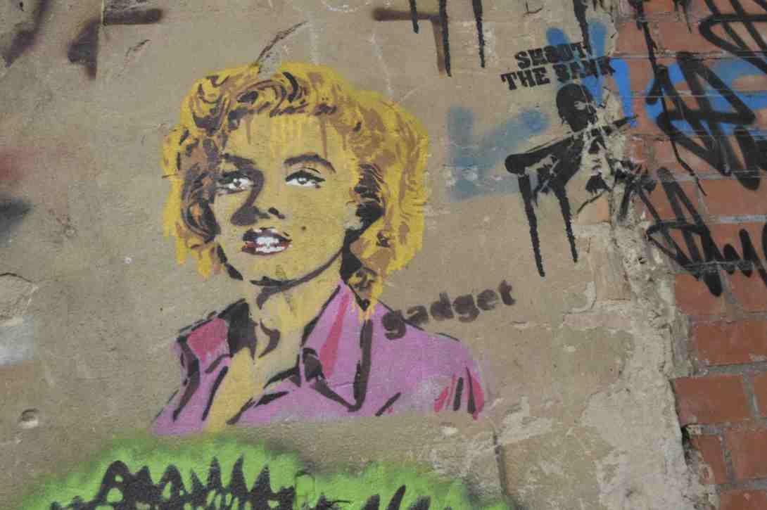 Marilyn Monroe Street art be kitschig blog