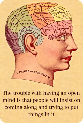 Quote The Trouble with havign an open mind