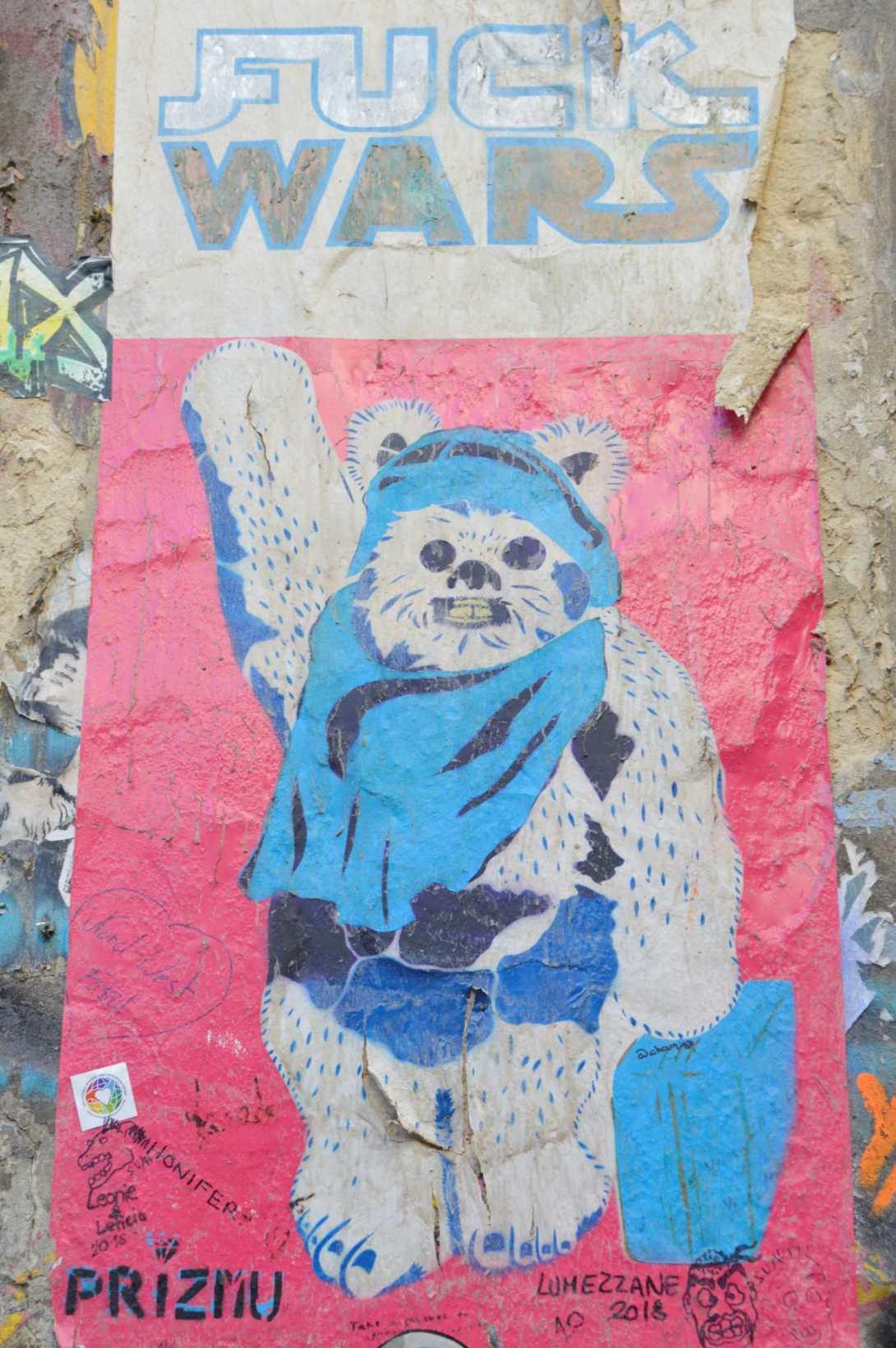 Fuck Wars PRIZMU street art