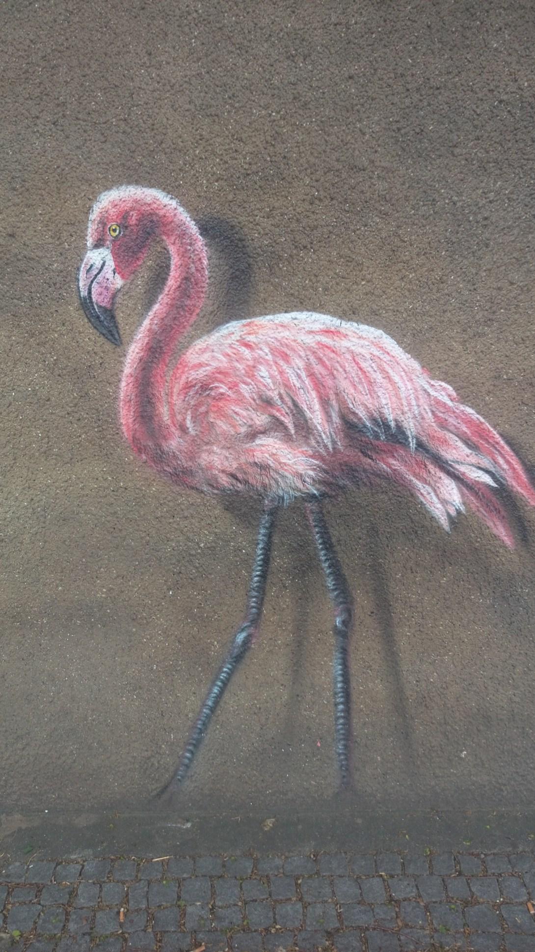 Tierpark Berlin Friedrichsfelde Flamingo Graffiti be kitschig blog