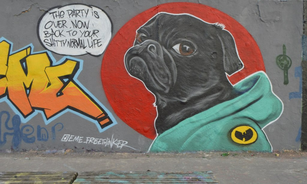 street art graffiti Berlin Mauerpark be kitschig blog eme freethinker caribbean vandals #dog