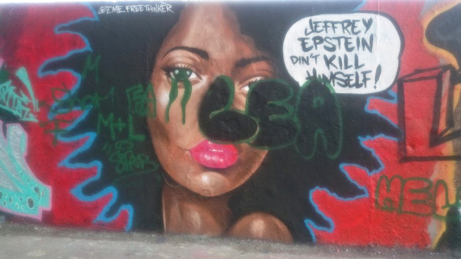 street art graffiti Berlin Mauerpark be kitschig blog  caribbean vandals Jeffrey Epstein did not kill himself