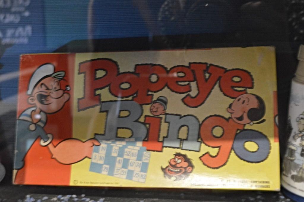 Popeye Village vintage toys Bingo Malta