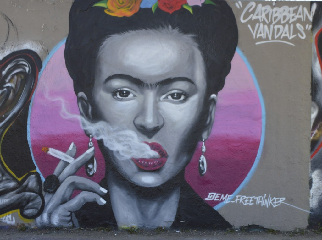 graffiti Frida Kahlo by eme freethinker Mauerpark Berlin #streetart be kitschig blog Postcards from Berlin #17