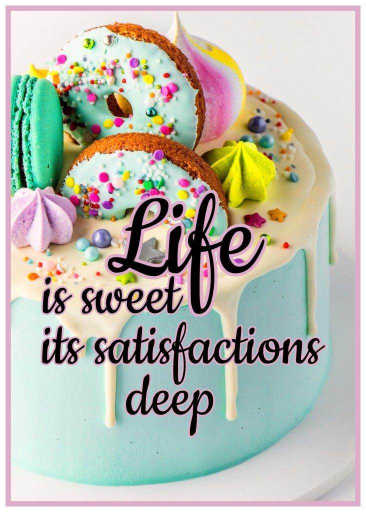 Quote Josephine Hart Life is sweet its satisfaction deep bekitschig blog