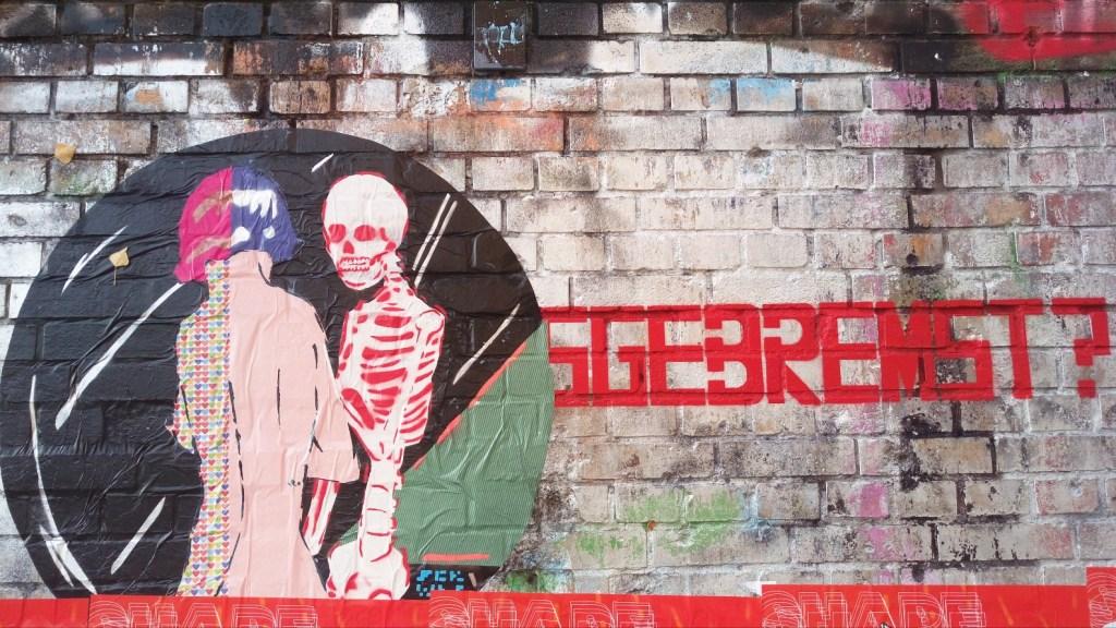 street art paste up ausgebremst thwarted bekitschig blog Berlin