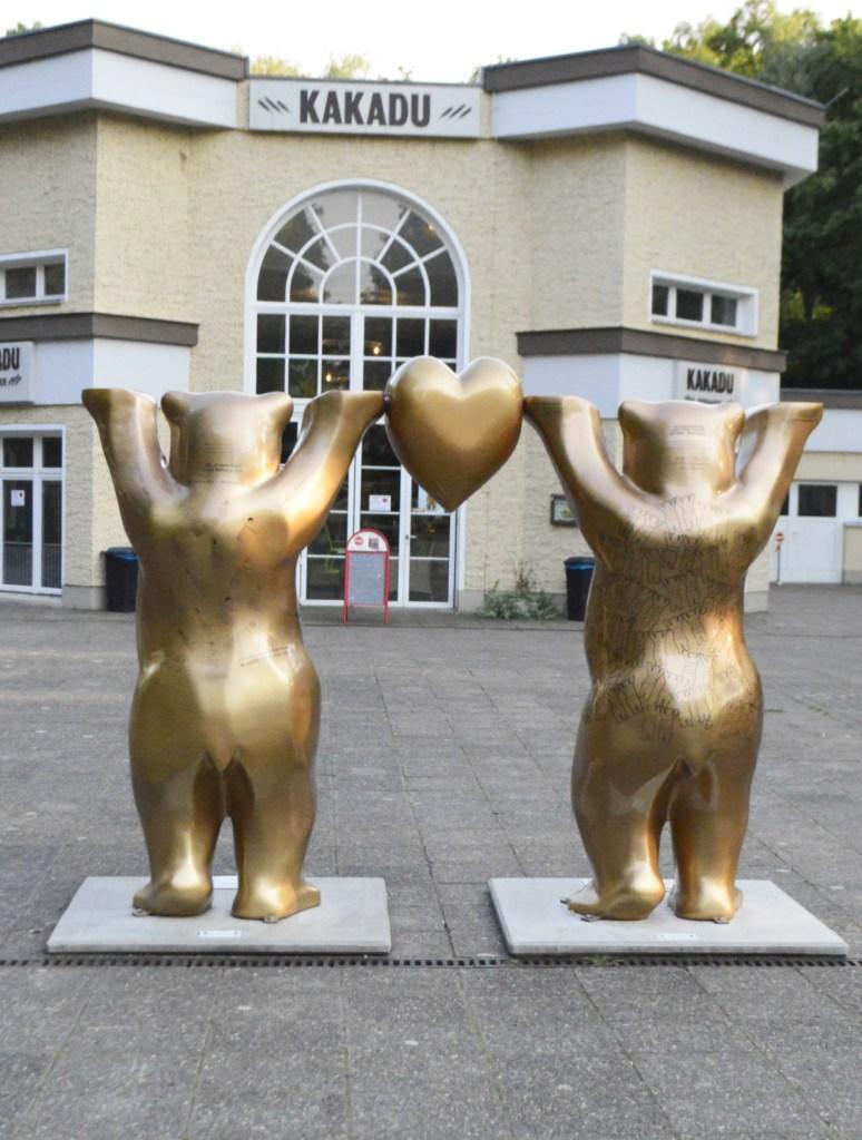 Goldene Bären Herz Tierpark Berlin