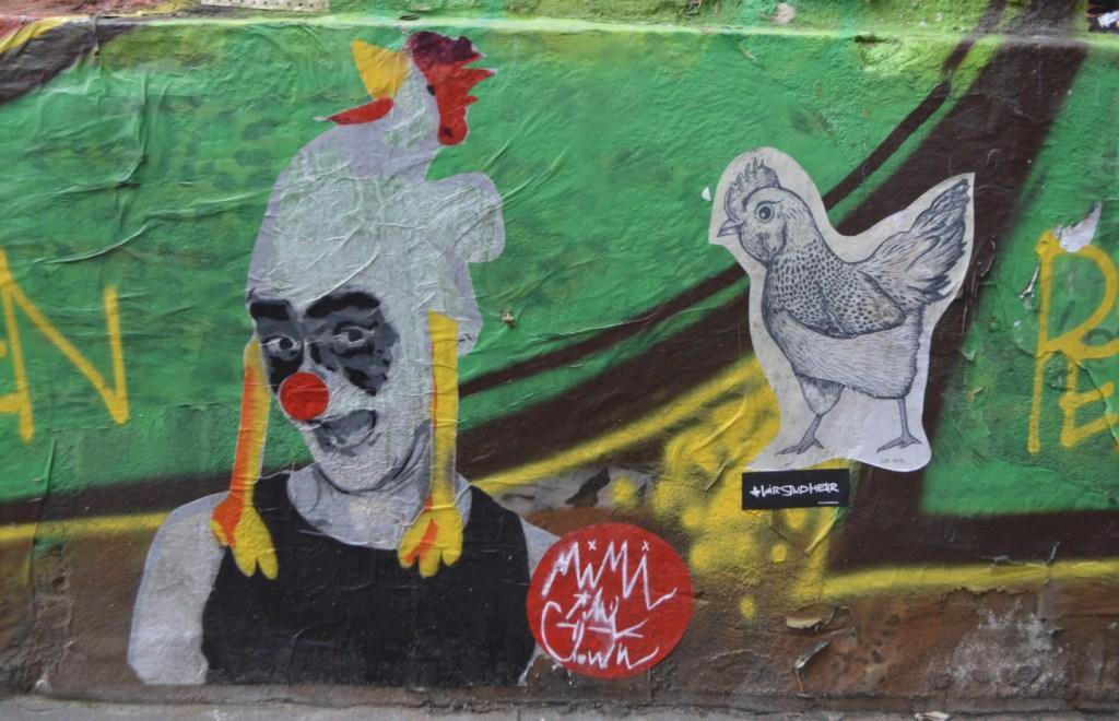 Mimi the Clown Paste up and Løv Noir