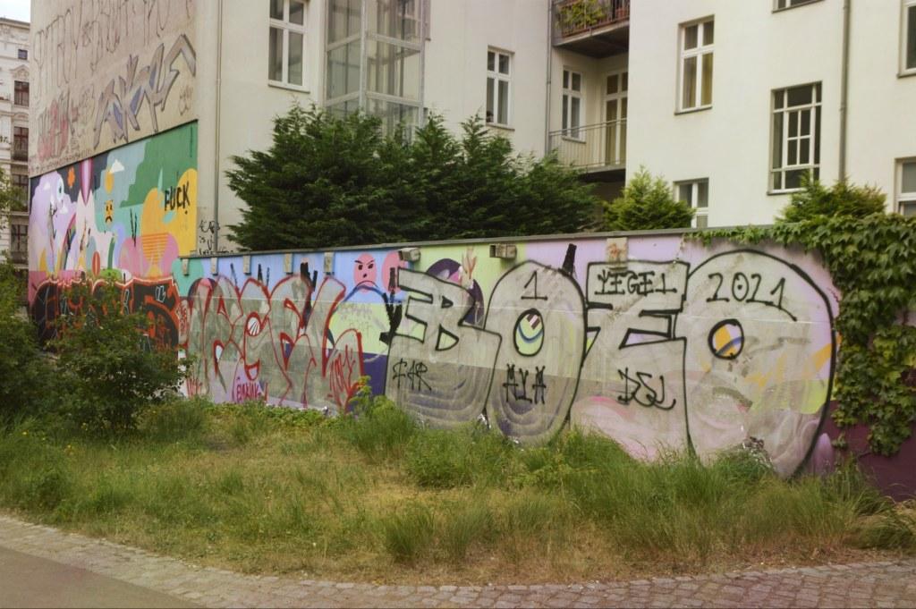 Mural street art vanadlized Wandbild Berlin Oderberger Straße
