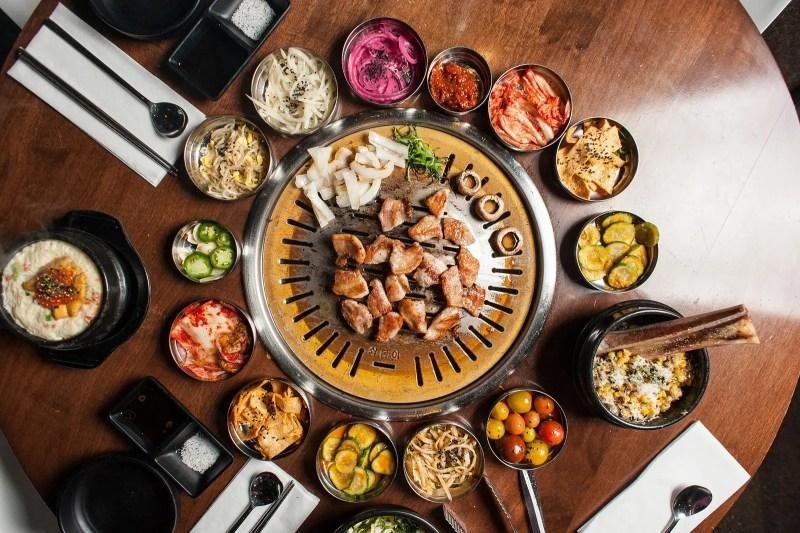 delicious korean food meal