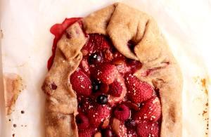 gallete vegana de frutos rojos