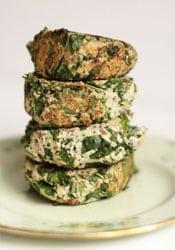 hamburguesas de kale y nuez