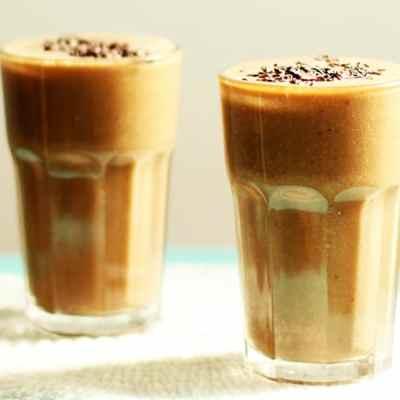 Cream smoothie de banana y coco, súper energético.