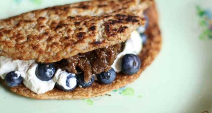 receta facil de pancakes veganos