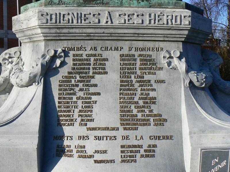 Soignies Zinnik  Monument aux morts de 1914  1918