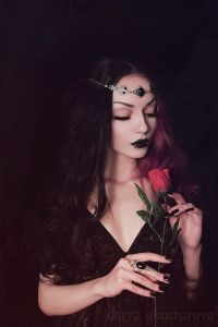 Model/ MUA/ Photo: Darya Goncharova Circlet & Ring: Mystic Thread Welcome to Gothic and Ama ...