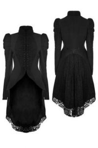 Punk Rave Gothic Victorian Lace Tailed Jacket Y-831