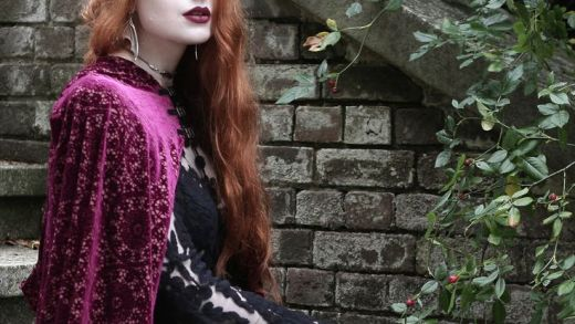 Regal Rose Halloween Collection 2016 - modelled by the stunning Olivia Emily #halloween #jewellery #goth #cape