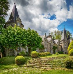 The medieval chateau of Castle Park, Britanny, France, was renovated in the earl