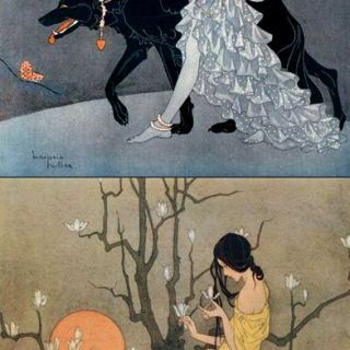 Art by Marjorie Miller.  Illustrator in the 1920's and 30's.