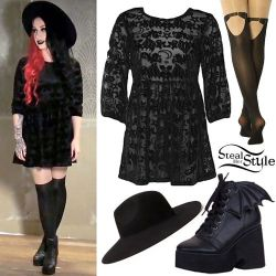 """Ash Costello appears in a promotional video for her new """"Bat Royalty"""" collaboration clothing lin ..."""