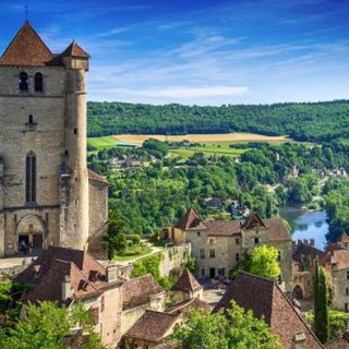 Perched on a steep cliff 300 ft above the Lot River is the stronghold of Saint-C