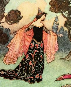 "'Beauty and the Beast' (detail) from ""The Fairy Book"" (1913) illustrated by Warwick Goble"