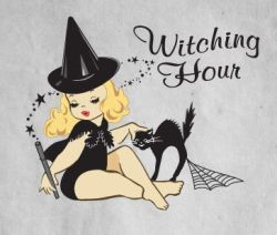 Witching Hour #retro #witch #halloween