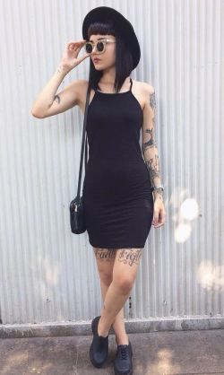 Mini Jersey Cami Dress – #dress #bodicon #grunge