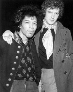 Two of the greatest guitarists of all time.  Jimi Hendrix and Eric Clapton. no big deal.  SUCH A ...