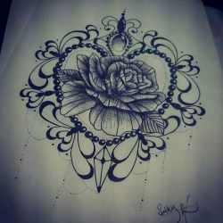 Blackwork rose tattoo design. Find me on Facebook Ruth tattooist or fourleaf tattoo. Tattoo Idea ...