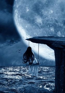 """""""The moon is a loyal companion. It never leaves. It's always there, watching, steadfast, knowing ..."""