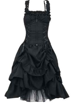 Poizen Industries Gothic Emo Punk Ladies Soul Dress, Gothic Emo Punk Dress