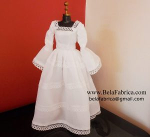 Vintage Wedding Dress Replica in Miniature