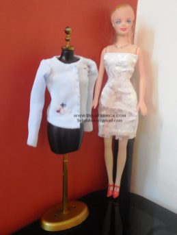 Miniature Blouse for fashion dolls on Mannequin