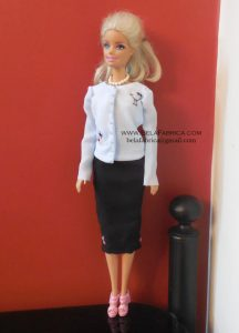 Miniature Blue Blouse for fashion dolls BY BELAFABRICA