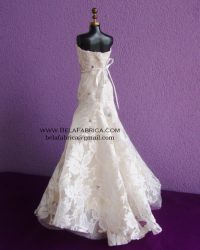 Miniature Replica Wedding Dress of Davids Bridal Wedding Gown BY BELAFABRICA Back View